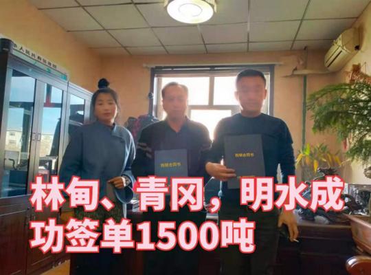 2020年10月15日,邦环球体育官网意甲业与林甸,青冈,明水地区签订1500吨购销合同书